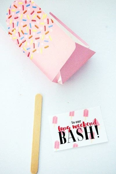 How to make an invitation card. Make This Printable Popsicle Box + Invite - Step 2