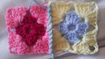 How to crochet a granny square. How To Join With A Double Crochet - Step 6
