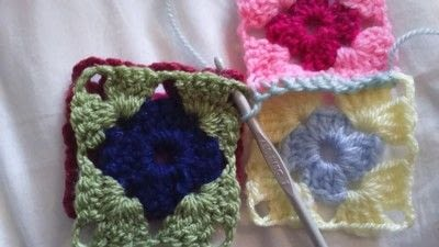 How to crochet a granny square. How To Join With A Double Crochet - Step 8