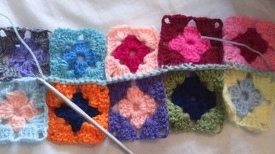 How to crochet a granny square. How To Join With A Double Crochet - Step 11