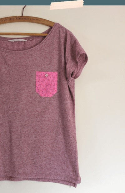 How to make a pocket t-shirt. No Sew Pocket T Shirt For Summer - Step 6
