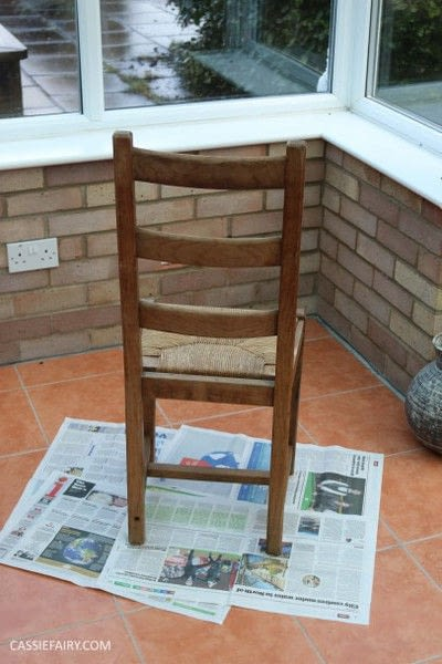 How to make a chair. Furniture Upcycling Project   Distressed Paint Effect - Step 1