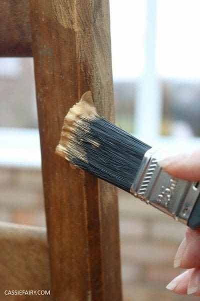 How to make a chair. Furniture Upcycling Project   Distressed Paint Effect - Step 2