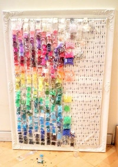 How to make a craft organizers. Bead Gallery - Step 11