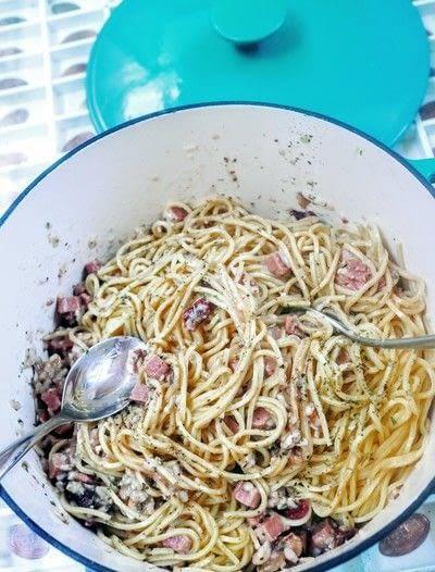 How to cook a carbonara pasta. Spaghetti Carbonara - Step 6