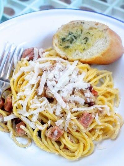How to cook a carbonara pasta. Spaghetti Carbonara - Step 7