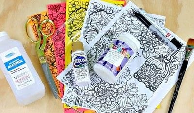 How to make a plate. Adult Coloring Book Dishes - Step 2