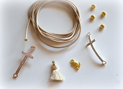 How to make a bracelet. Baptism Favors (bracelets) Diy! - Step 1