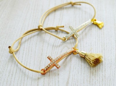 How to make a bracelet. Baptism Favors (bracelets) Diy! - Step 5