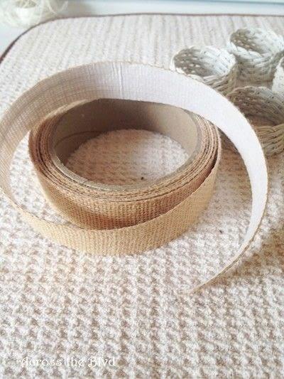 How to make a napkin / napkin ring. Coastal Napkin Rings - Step 3