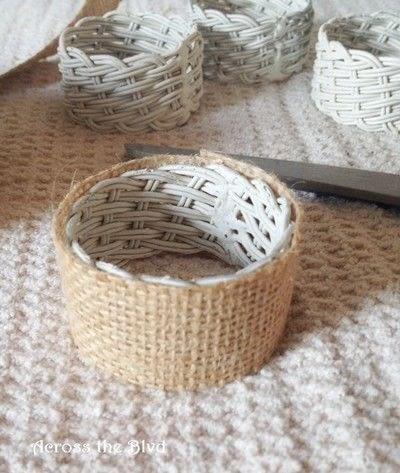 How to make a napkin / napkin ring. Coastal Napkin Rings - Step 4