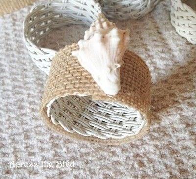 How to make a napkin / napkin ring. Coastal Napkin Rings - Step 5