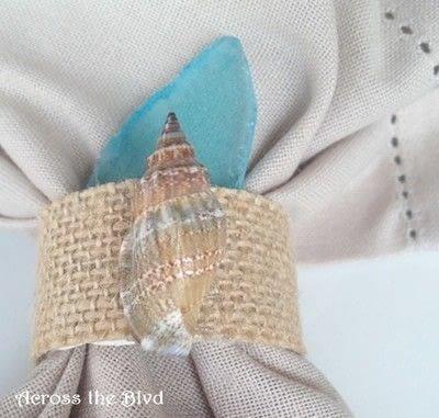 How to make a napkin / napkin ring. Coastal Napkin Rings - Step 6