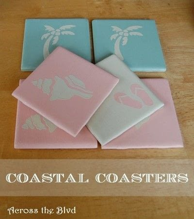 How to make a coaster. Coastal Coasters - Step 5