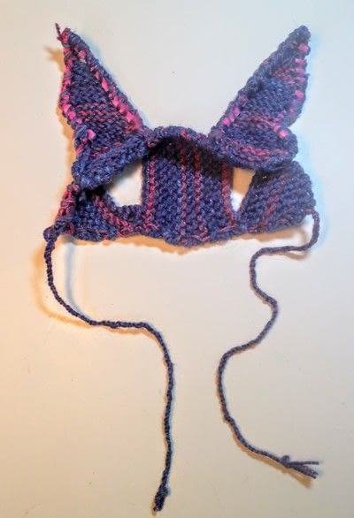 How to make a pet hat. Bunny Ear Cat Hat - Step 7