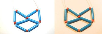 How to make a woven bead necklace. Geometric Cat Necklace - Step 10
