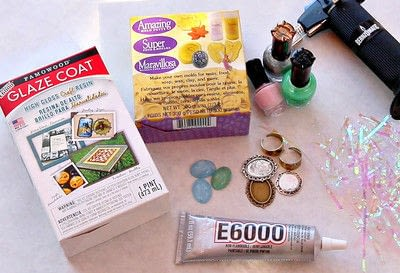 How to make a cabochon ring. Faux Opals Diy - Step 2