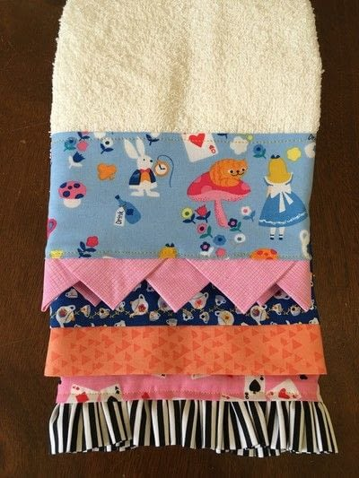 How to make a towel. Decorated Hand Towel - Step 2
