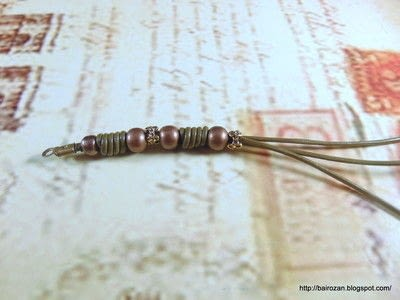 How to make a bracelet. Knotted Leather Spacers - Step 4