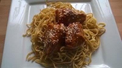 How to cook a chicken dish. Honey Sesame Chicken  - Step 3