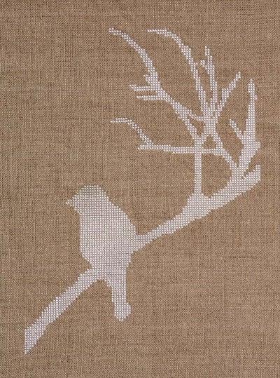 How to cross stitch art. Bird On A Branch Cross Stitch - Step 1
