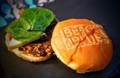 How to cook a bean burger. Black & Blue Burgers - Step 8