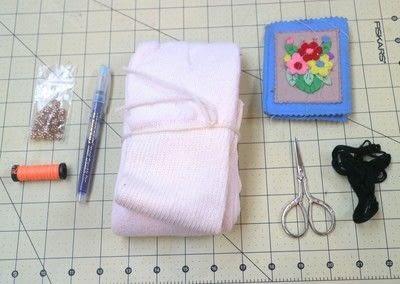 How to make a sock. Glow In The Dark Skyline Socks - Step 1