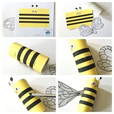 How to make a paper roll model. Bumblebee Toilet Tube Craft Printable  - Step 1