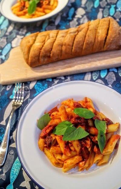 How to cook pasta. Chorizo Penne Arrabbiata - Step 9