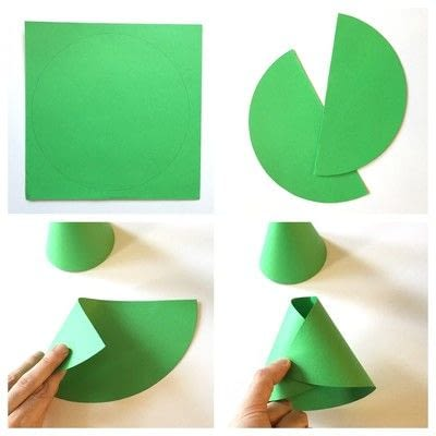 How to make a paper model. Cone Shaped Frog - Step 1
