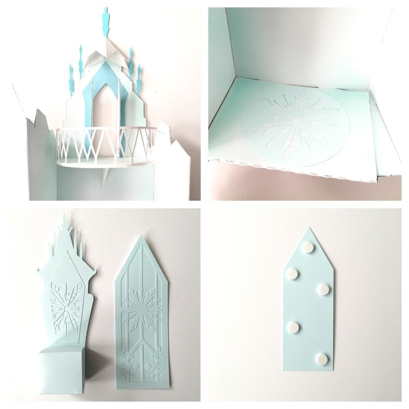 Elsa S Cardboard Ice Castle Playset 183 How To Make A Dolls