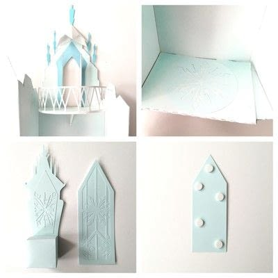 How to make a dolls house. Elsa's Cardboard Ice Castle Playset - Step 3