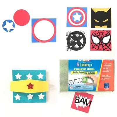 How to make a collages. Superhero Collage - Step 3