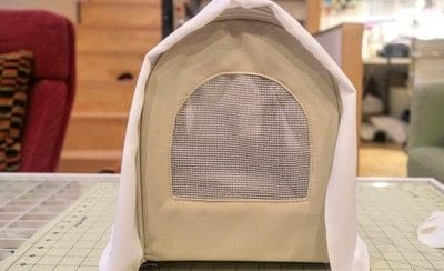 How to make a pet accessory. Campervan Cat Carrier - Step 7