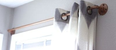 How to make a curtain/blinds. Diy Copper Curtain Rods - Step 3