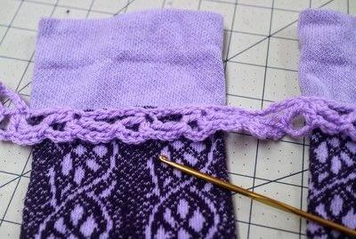 How to make a sock. Charm Cuff Socks - Step 12