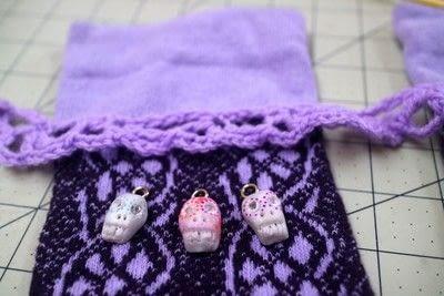 How to make a sock. Charm Cuff Socks - Step 14