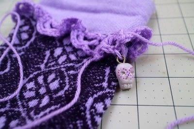 How to make a sock. Charm Cuff Socks - Step 15