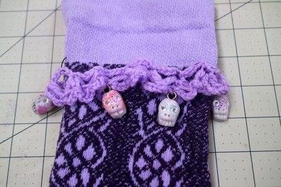 How to make a sock. Charm Cuff Socks - Step 16