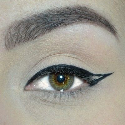 How to create a winged eye look. Winged Eyeliner Tutorial - Step 3