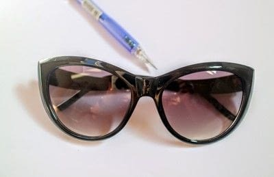 How to make a pair of sunglasses. Cat Eye Sunglasses - Step 1