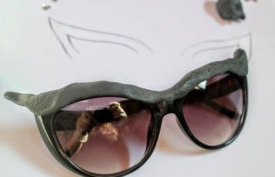 How to make a pair of sunglasses. Cat Eye Sunglasses - Step 4