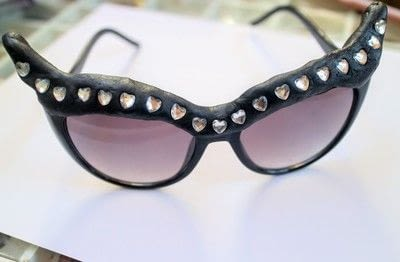 How to make a pair of sunglasses. Cat Eye Sunglasses - Step 5