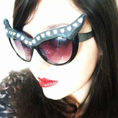 How to make a pair of sunglasses. Cat Eye Sunglasses - Step 6