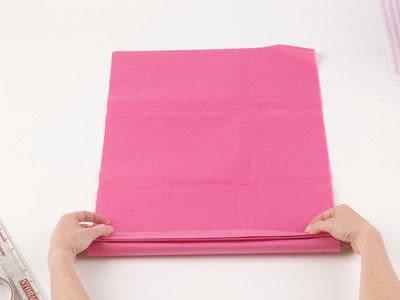 How to make a pom pom decoration. Paper Pompoms - Step 2