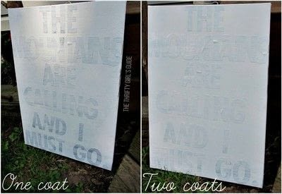 How to decorate a canvas. Reuse A Canvas: Diy Sticker Wall Word Art - Step 3