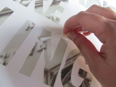 How to decorate a canvas. Reuse A Canvas: Diy Sticker Wall Word Art - Step 4