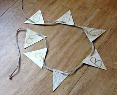 How to make bunting. Diy Be Bold Banner - Step 5