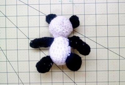 How to make a bear plushie. Amigurumi Panda Cub - Step 6