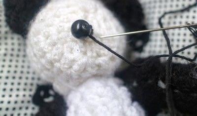 How to make a bear plushie. Amigurumi Panda Cub - Step 7